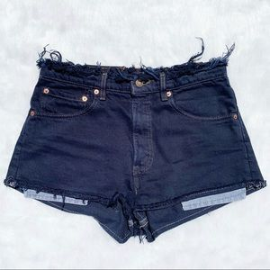 LEVI'S Vintage VTG Dark Fray Waistband HR Shorts